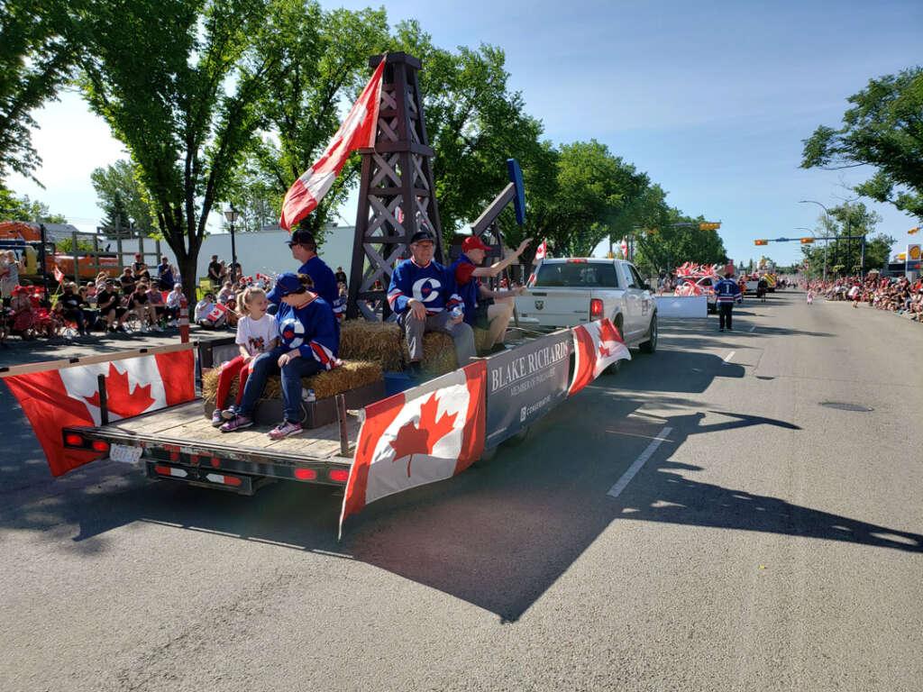 Conservative Blake Rchards parade